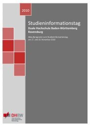 Duale Hochschule Baden-Württemberg Ravensburg - DHBW ...