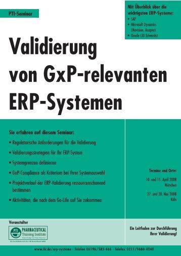 Validierung von GxP-relevanten ERP-Systemen - DHC Dr. Herterich ...
