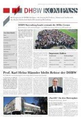 Prof. Karl Heinz Hänssler bleibt Rektor der DHBW