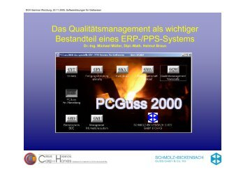 Das Qualitätsmanagement als wichtiger Bestandteil eines ERP-/PPS