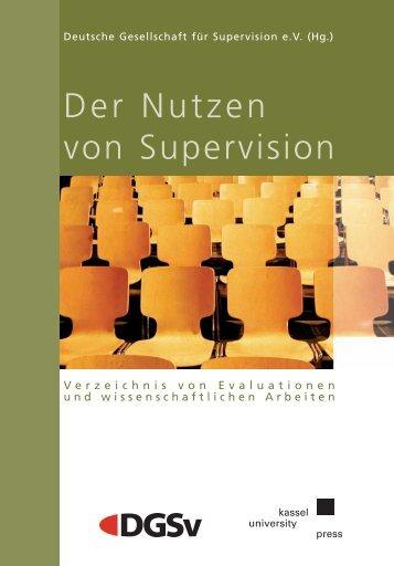 Der Nutzen von Supervision - Universität Kassel