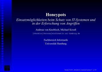 Honeypots - Fachbereich Informatik - Universität Hamburg