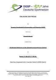 Einladung der Presse zur DGSP Pressekonferenz anlässlich des