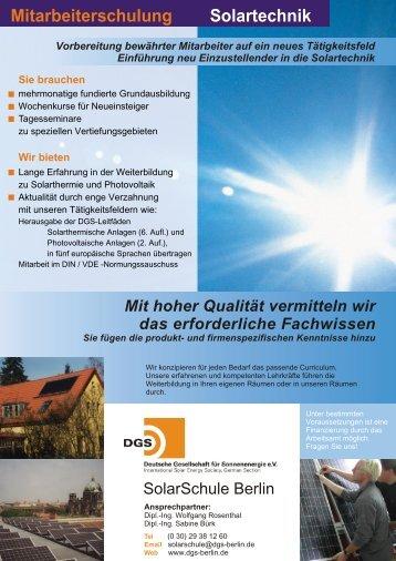 Mitarbeiterschulung Solartechnik