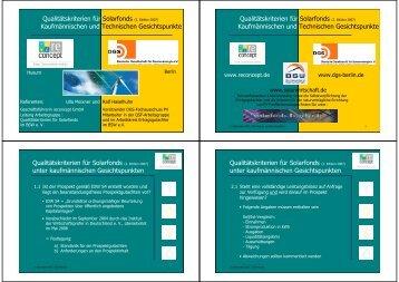 Qualitätskriterien für Solarfonds -  DGS - Landesverband Berlin und ...