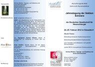 Jahrestagung der Sektion Schmerz - Deutsche Gesellschaft für ...