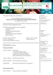 Tagung der Sektion Stereotaxie und Radiochirurgie der DGNC