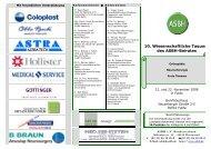 10. Wissenschaftliche Tagung des ASBH-Beirates