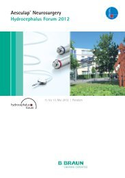 Aesculap® Neurosurgery Hydrocephalus Forum 2012