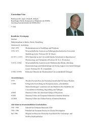 Curriculum Vitae Professor Dr. med. Ulrich R. Fölsch - Deutsche ...