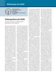 Mitteilungen der DGIM Stellungnahme der DGIM - Deutsche ...