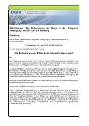 Einladung zum Seminar - Deutsche Gesellschaft für Integrierte ...