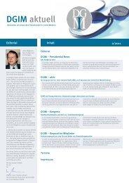 DGIM aktuell - Deutsche Gesellschaft für Innere Medizin (DGIM)