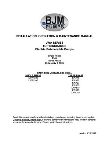 Eco 1 60 monosense operation maintenance mono pumps installation operation maintenance bjm pumps sciox Gallery