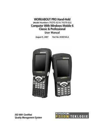 WORKABOUT PRO Hand-Held Computer With Windows Mobile 6 ...