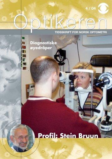 Profil: Stein Bruun - Norges Optikerforbund