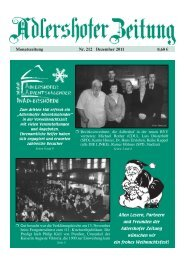 Nr. 212 Dezember 2011 Monatszeitung 0,60 € - In Adlershof