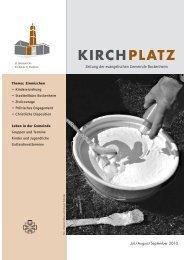 KIRCHPLATZ 7/8/9/2010 - Evangelische Gemeinde Bockenheim
