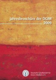 Jahresbroschüre der DGIM 2009 - Deutsche Gesellschaft für Innere ...