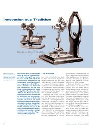 Innovation aus Tradition - Carl Zeiss