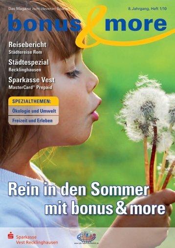 Rein in den Sommer mit bonus & more - Sparkasse Vest
