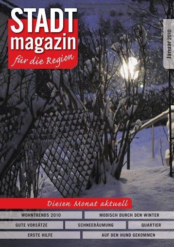 Ausgabe Januar 2010 - STADTmagazin Rapperswil-Jona