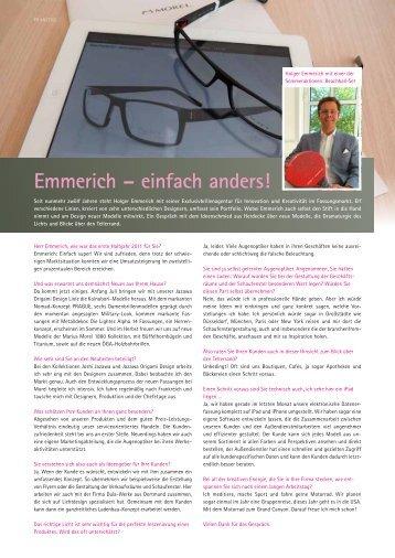 Emmerich – einfach anders! - Emmerich Exclusivbrillen