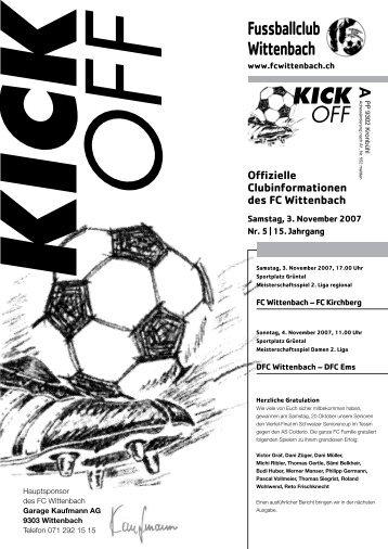 KICK OFF - FC Wittenbach