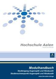 Modulbeschreibungen Studiengang Augenoptik und Hörakustik ...