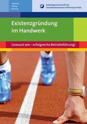 """Infobroschüre """"Existenzgründung im Handwerk"""" - bei der ..."""