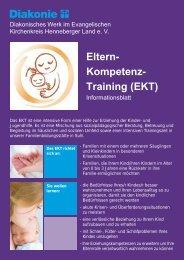 Eltern- Kompetenz- Training (EKT) - Diakonisches Werk ...