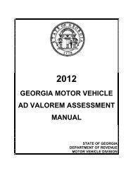 Georgia Ad Valorem Tax Calculator >> Georgia Title Ad Valorem Tax Fee Informational Bulletin Mvd