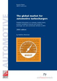 The global market for automotive turbochargers - ABOUT Publishing ...