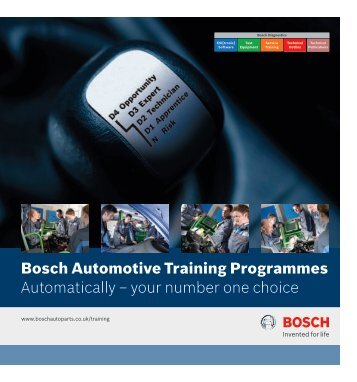 Bosch Automotive Training Programmes Automatically – your ...