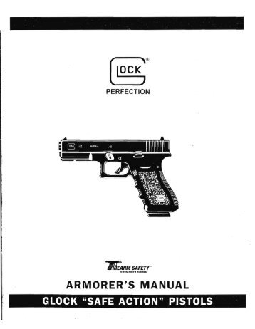 Glock Armorer's Manual Update