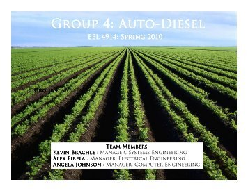 Group 4: Auto Group 4: Auto-Diesel - Department of Electrical ...