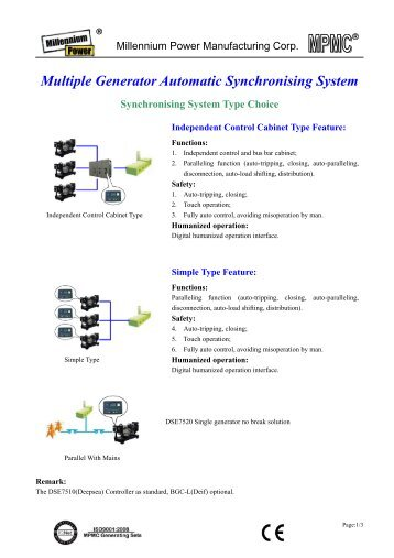 Multiple Generator Automatic Synchronising System - Diesel ...