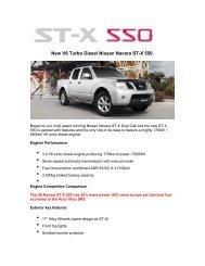 New V6 Turbo Diesel Nissan Navara ST-X 550.