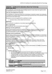 AUR31412 Certificate III in Automotive Diesel Fuel Technology ...