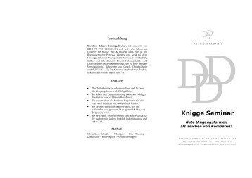 Knigge Seminar - DDD-PR für Personen