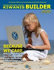 PNW Kiwanis Builder Magazine - Kiwanis Pacific Northwest District