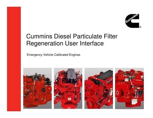 Cummins Diesel Particulate Filter Regeneration User Interface