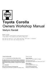 Toyota Corolla Owners Workshop Manual