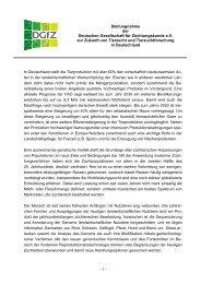 Zukunft der Tierzucht - Stellungnahme der DGFZ 2010