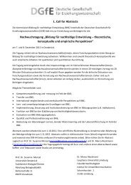 Call for Papers - Deutsche Gesellschaft für Erziehungswissenschaft