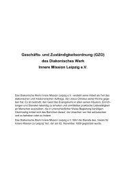 Geschäfts- und Zuständigkeitsordnung (GZO) - Diakonie Leipzig