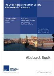 Abstract book - European Evaluation Society
