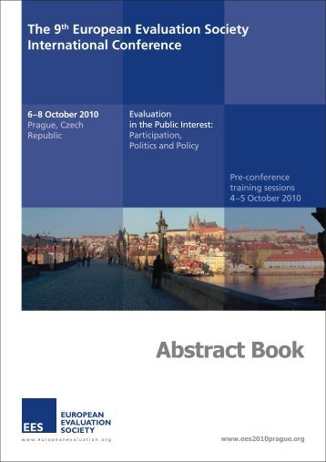 Abstract book - European Evaluation Society
