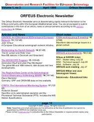 ORFEUS Newsletter - April 1999 - vol 1 - no 2 - page 12