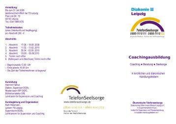 Programm – Coachingausbildung - Diakonie Leipzig